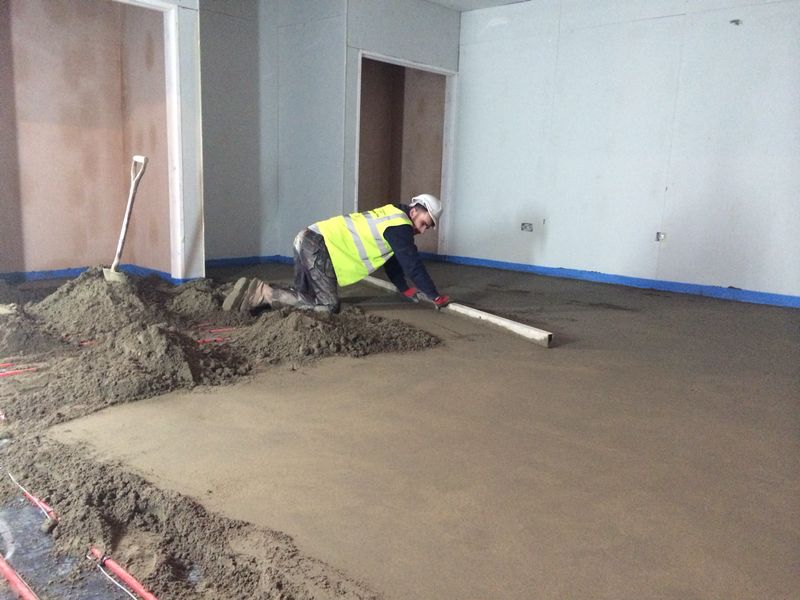 Carehome in Leeds | UFH and Screed