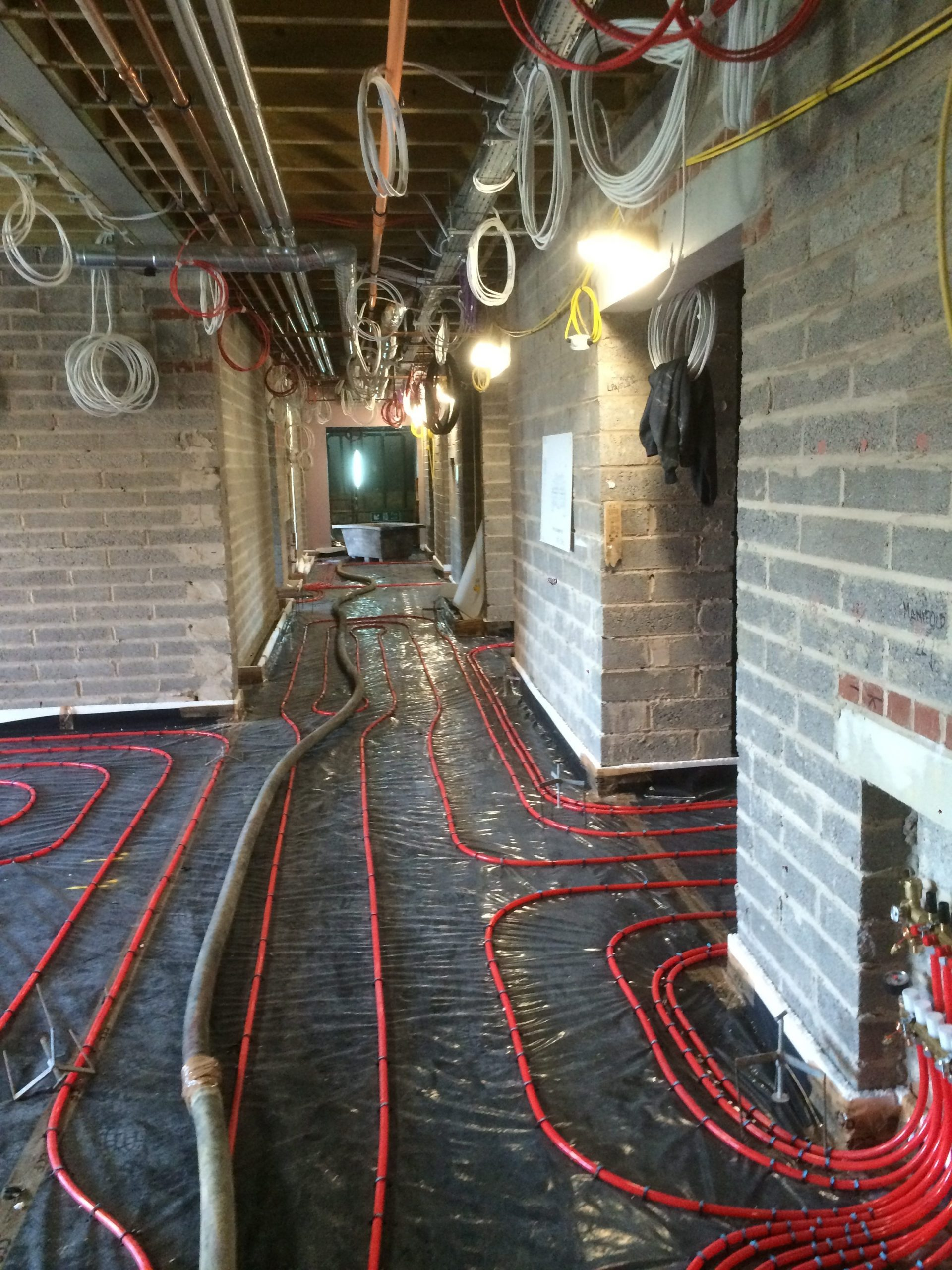 Esher Carehome in Surrey | UFH and Screed