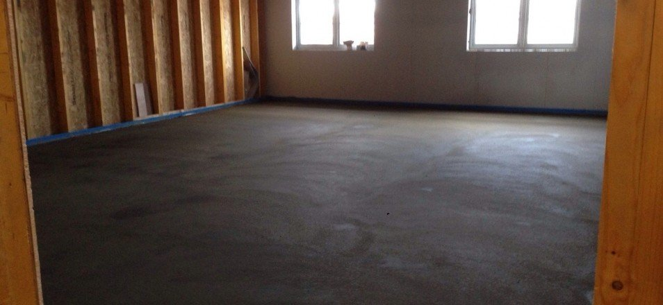 Under Heated Screed Floor in Burnley